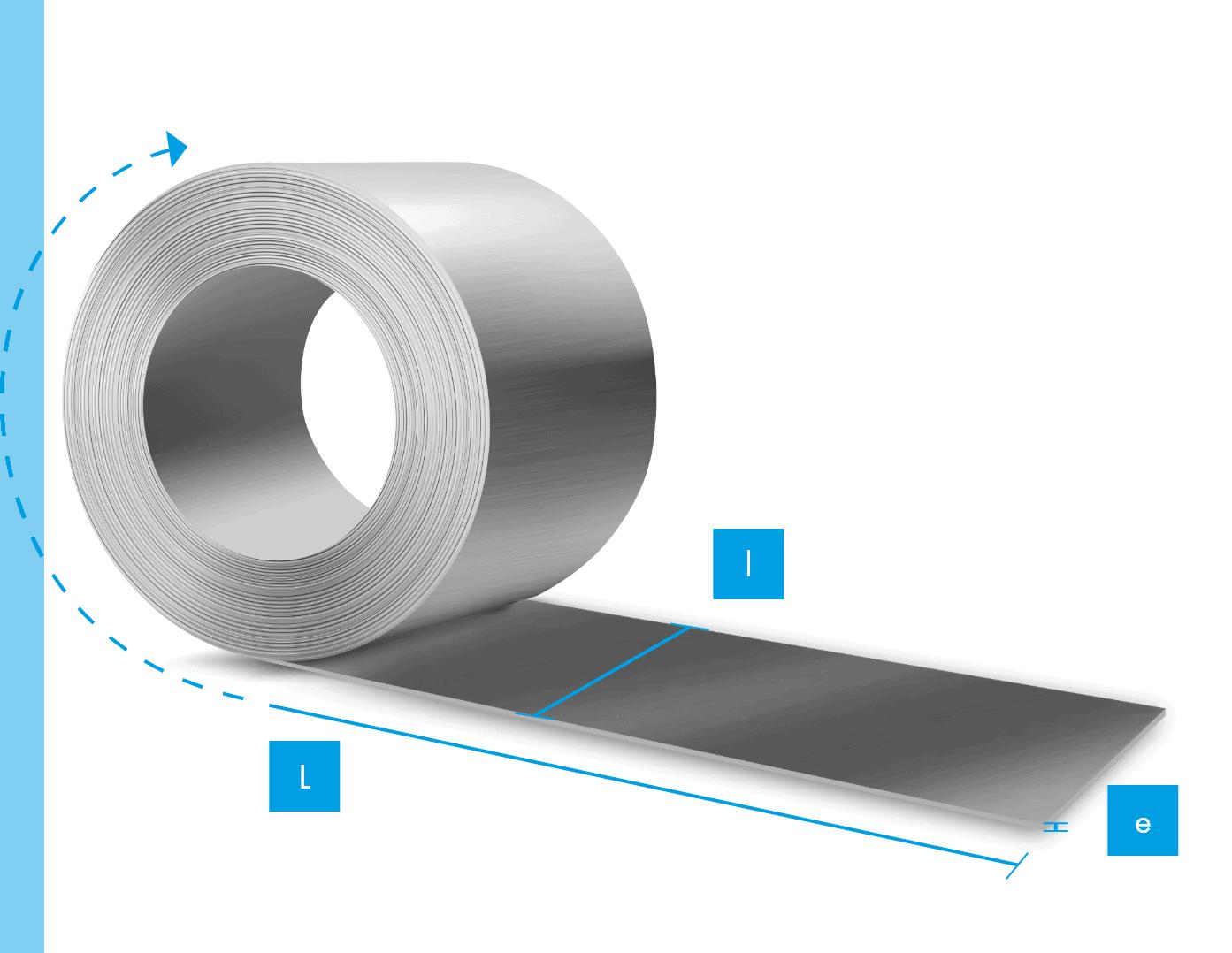 Calculateur de poids de rouleaux / bobine