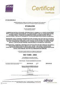 Certificazione ISO 13485 (Medico)
